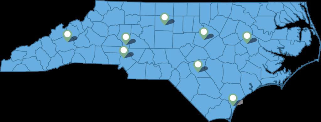 North Carolina NCNG Employment Center Locations